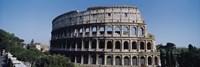 Facade Of The Colosseum Rome Italy