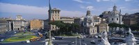 """High angle view of traffic on a road, Piazza Venezia, Rome, Italy by Panoramic Images - 27"""" x 9"""""""