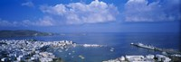"""High angle view of buildings at a coast, Mykonos, Cyclades Islands, Greece by Panoramic Images - 27"""" x 9"""""""