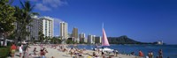 "Waikiki Beach Oahu Island HI USA by Panoramic Images - 27"" x 9"""
