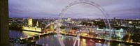 """High Angle View Of The Millennium Wheel, London, England, United Kingdom by Panoramic Images - 27"""" x 9"""""""