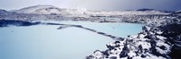 High angle view of a hot spring, Iceland Fine Art Print