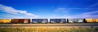 """Boxcars Railroad CA by Panoramic Images - 27"""" x 9"""""""