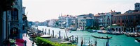 """Boats and Gondolas, Grand Canal, Venice, Italy by Panoramic Images - 27"""" x 9"""""""