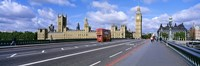 """Parliament Big Ben London England by Panoramic Images - 27"""" x 9"""""""