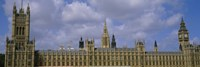 "Facade Of Big Ben And The Houses Of Parliament, London, England, United Kingdom by Panoramic Images - 27"" x 9"""