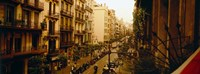 """Buildings in a row, Catalonia, Barcelona, Spain by Panoramic Images - 27"""" x 9"""", FulcrumGallery.com brand"""