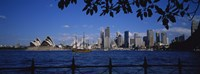 """Skyscrapers On The Waterfront, Sydney Opera House, Sydney, New South Wales, United Kingdom, Australia by Panoramic Images - 27"""" x 9"""""""