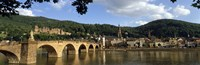 Bridge across a river, Heidelberg Germany Framed Print