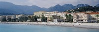 "Hotels On The Beach, Menton, France by Panoramic Images - 27"" x 9"""