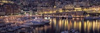"Harbor, Monte Carlo, Monaco by Panoramic Images - 27"" x 9"""