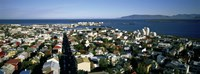 """High Angle View Of A City, Reykjavik, Iceland by Panoramic Images - 27"""" x 9"""", FulcrumGallery.com brand"""