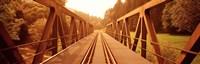 Railroad Tracks and Bridge Germany