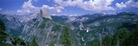 """Nevada Fall And Half Dome, Yosemite National Park, California by Panoramic Images - 27"""" x 9"""", FulcrumGallery.com brand"""