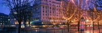 """Evening, Paris, France by Panoramic Images - 27"""" x 9"""""""