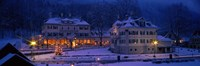 """Christmas Lights, Hohen-Schwangau, Germany by Panoramic Images - 27"""" x 9"""""""