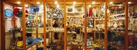 """Glassworks display in a store, Murano Glassworks, Murano, Venice, Italy by Panoramic Images - 27"""" x 9"""", FulcrumGallery.com brand"""