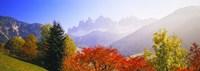 Dolomites Alps in spring, Italy Framed Print