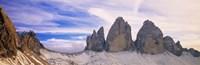 Dolomites Alps with Snow Italy