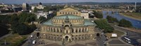 """High Angle View Of An Opera House, Semper Opera House, Dresden, Germany by Panoramic Images - 27"""" x 9"""""""