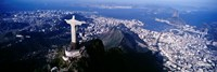 View of Christ the Redeemer and Rio De Janeiro, Brazil Framed Print
