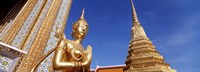 "Wat Phra Kaeo Statue, Grand Palace, Bangkok, Thailand by Panoramic Images - 27"" x 9"""