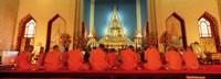 Monks Benchamapophit Wat Bangkok Thailand
