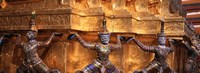 """Close-up of statues in a temple, Grand palace, Bangkok, Thailand by Panoramic Images - 27"""" x 9"""""""