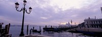 """Gondolas in canal with a church in the background, Sana Maria Della Salute, Grand Canal, Venice, Italy by Panoramic Images - 27"""" x 9"""""""