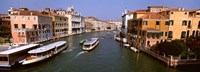 """High angle view of ferries in a canal, Grand Canal, Venice, Italy by Panoramic Images - 27"""" x 9"""" - $28.99"""