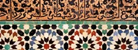 """Close-up of design on a wall, Ben Youssef Medrassa, Marrakesh, Morocco by Panoramic Images - 27"""" x 9"""""""