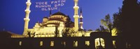"""Blue Mosque at night, Istanbul, Turkey by Panoramic Images - 27"""" x 9"""""""