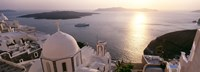 """View of Santorini, Greece by Panoramic Images - 27"""" x 9"""""""