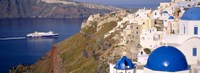 "Buildings in a valley, Santorini, Cyclades Islands, Greece by Panoramic Images - 27"" x 9"""