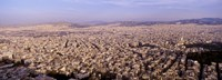 """Aerial view of a city, Athens, Greece by Panoramic Images - 27"""" x 9"""", FulcrumGallery.com brand"""