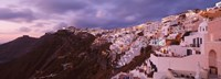 Town at Dusk Santorini Greece