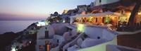 Terrace Overlooking the Caldera Santorini Greece