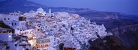 """High angle view of buildings, Santorini, Cyclades Islands, Greece by Panoramic Images - 27"""" x 9"""", FulcrumGallery.com brand"""