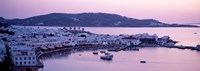 """Buildings in a city, Mykonos, Cyclades Islands, Greece by Panoramic Images - 27"""" x 9"""""""