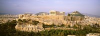 """High angle view of buildings in a city, Acropolis, Athens, Greece by Panoramic Images - 27"""" x 9"""""""