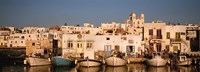 """Boats at the waterfront, Paros, Cyclades Islands, Greece by Panoramic Images - 27"""" x 9"""""""