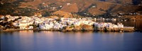 """Buildings at the waterfront, Andros, Cyclades Islands, Greece by Panoramic Images - 27"""" x 9"""""""