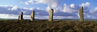 """Ring Of Brodgar on a cloudy day, Orkney Islands, Scotland, United Kingdom by Panoramic Images - 27"""" x 9"""""""