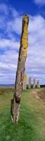 """Narrow pillar in the Ring Of Brodgar, Orkney Islands, Scotland, United Kingdom by Panoramic Images - 9"""" x 27"""""""