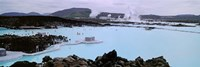 People In The Hot Spring, Blue Lagoon, Reykjavik, Iceland Fine Art Print