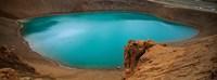 Lake On The Volcano, Blue Lake, Viti Crater, Iceland Fine Art Print