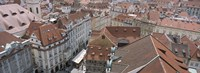 """View from old town hall, Prague, Czech Republic by Panoramic Images - 27"""" x 9"""""""