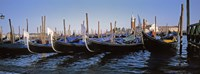 View of Gondolas Venice Italy