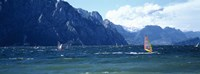 "Windsurfing on a lake, Lake Garda, Italy by Panoramic Images - 27"" x 9"" - $28.99"