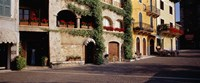 """Houses at a road side, Torri Del Benaco, Italy by Panoramic Images - 27"""" x 11"""", FulcrumGallery.com brand"""